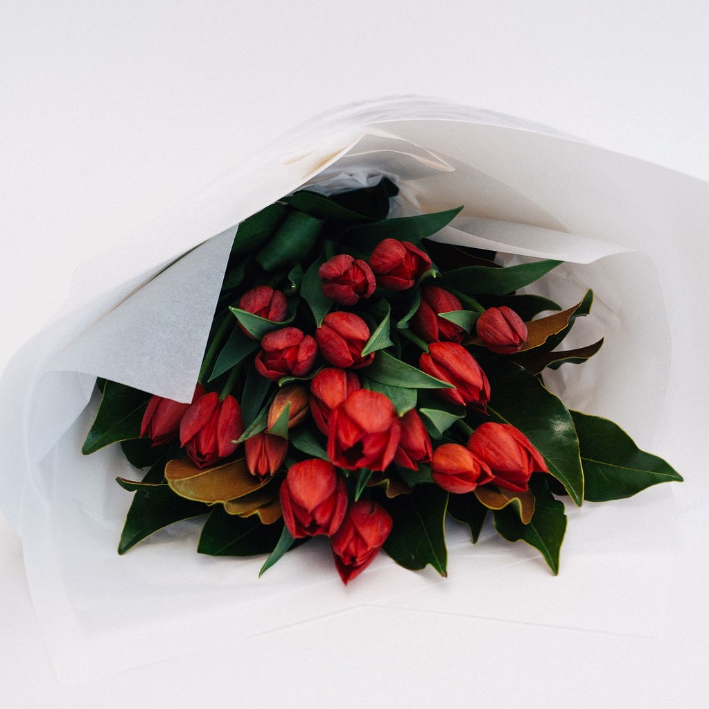 Bree - Red Tulip bouquet, Melbourne flower delivery