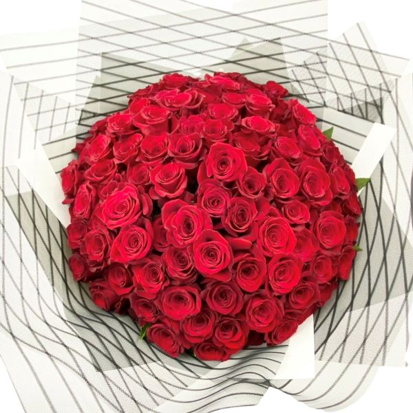valentines flowers rose bouquet Melbourne delivery 100 roses