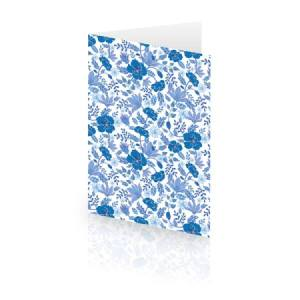 Card with Blue Flowers